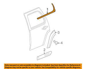 GM OEM Rear Window//Door-Belt Molding Weatherstrip Right 22774085
