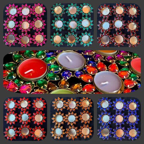 Mehndi Candles Henna Decoration Matki Plate 10 X Tealight 10 X Holder SET OF 20*