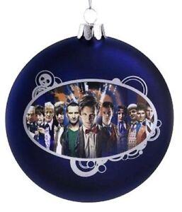 Doctor-Who-Disc-Shape-4-034-Glass-Xmas-Ornament-NEW-Christmas-Tree-Decoration
