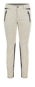 MAC Vision Pants Light Pearl White Check 5255-00-0172 201K - Slim Fit Ladies