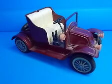 Vintage Japan  -  FRICTION CONVERTIBLE CAR - Red 6 1/2 Inches - NICE !!!