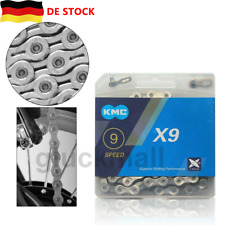 KMC X10 X10EL 10-Gang-Kette 116 Glieder Shimano MTB-Fahrradkette Silber NEU DE