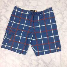 f713284d30 item 3 Quiksilver Men's Blue Red White Plaid Board Shorts Swim Trunks 38