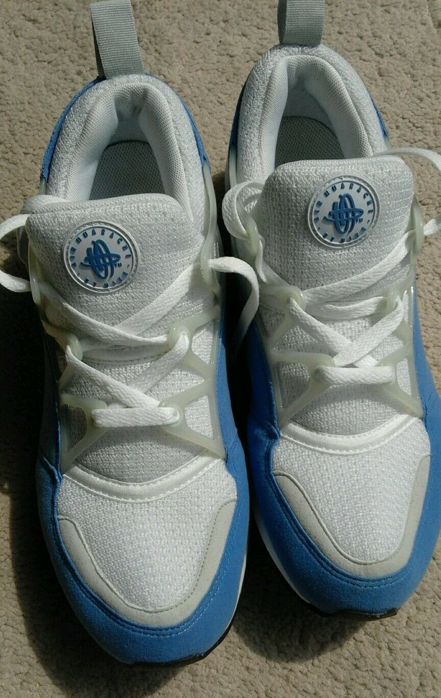 NIKE AIR Hommes 8 EU 42.5 2004 HUARACHE X DEADSTOCK Bleu LIGHT TRAINERS RARE DEADSTOCK X 981735