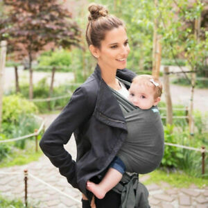 Moby Evolution Wrap Charcoal Baby Carrier 3.6-15kg