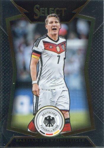 PANINI SELECT Soccer 2015 BASE CARD #41 Bastian Schweinsteiger-Allemagne