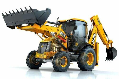 A3 JCB 3CX Backhoe loader Digger Tractor Cut-A-way Wall Poster Brochure