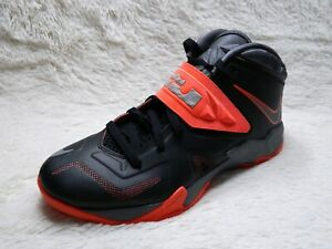 promo code ce49d 86f37 Details about Nike Lebron Soldier VII 7 Mens Sz 10 Basketball Red Black  Sneaker FREE S&H
