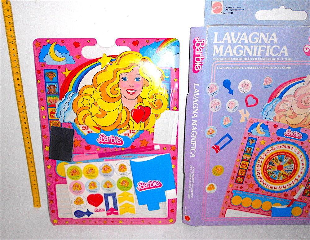 BARBIE 1986 Mattel italy wife off board - lavagna magnifica nuova in box