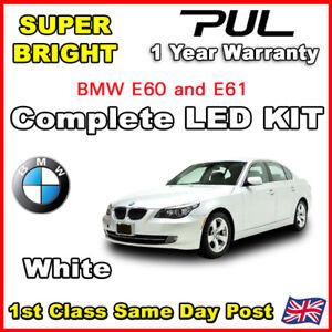 BMW-5-Serie-E60-Xenon-Blanc-CANBUS-DEL-Eclairage-Interieur-Mise-a-niveau-de-lumiere-Set-Kit