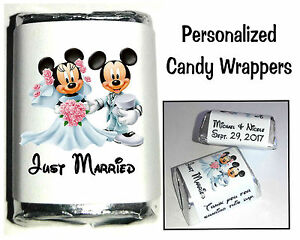 120 DISNEY MICKEY AND MINNIE MOUSE WEDDING CANDY WRAPPERS FAVORS ...