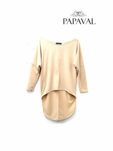 RSVH WBT Oversized Ladies Loose 3//4 Sleeve Shirt Blouse Baggy Batwing Tops