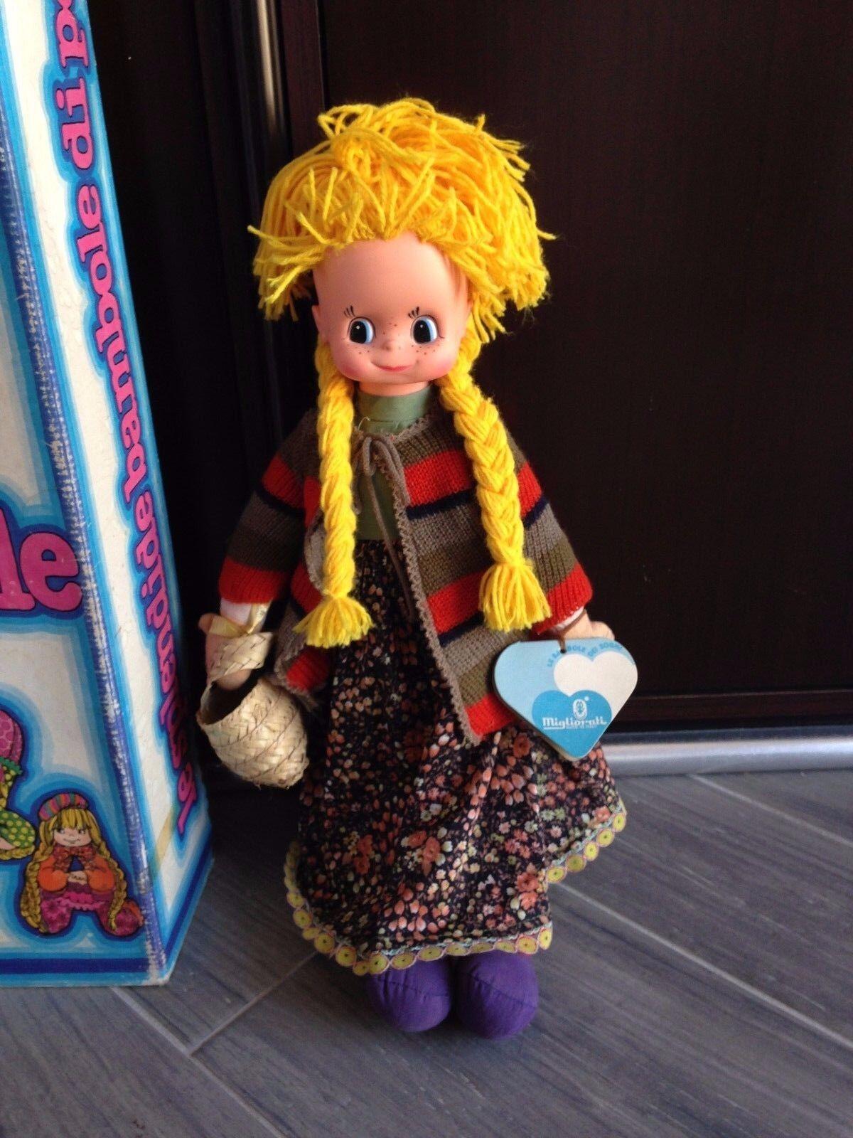 MIGLIORATI 465 bambola poupee doll poupee bambola ANNI '70 BULLA LE SPLENDIDE BAMBOLE DI PEZZA c2136d