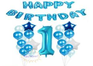 Boys 1st Birthday Filled Balloons Foil Balloon Party Decoration Confetti UK