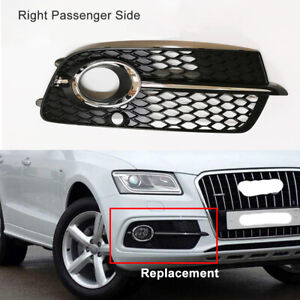 Fit-For-Audi-Q5-S-Line-2013-2017-Front-Bumper-Right-Side-Fog-Light-Cover-Grille