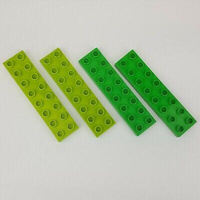 2 Lego Duplo Baseplates 4 X 8 Flat Yellow