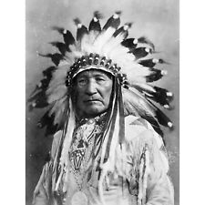 Photo 1898 Two Little Braves Native American 12X16 Inch Framed Art Print