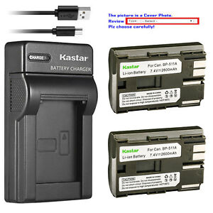 Kastar-Battery-Slim-Charger-for-Canon-BP-511-CG-580-amp-Canon-Optura-10-Optura-20