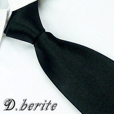 Meeting Formal New Men's Necktie Wedding Party 100% Silk Tie Plain Color Solid