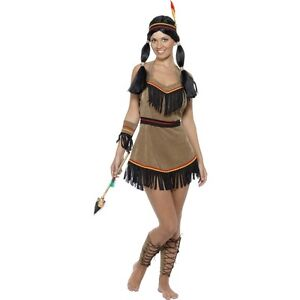 Image is loading Womens-Indian-Woman-Costume-Fancy-Dress-Pocahontas-Disney-  sc 1 st  eBay & Womens Indian Woman Costume Fancy Dress Pocahontas Disney Cowboy Hat ...