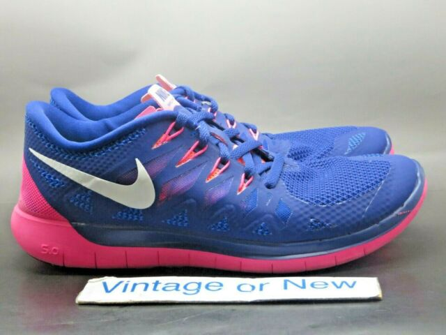 newest 40e54 4e68d Nike 5.0 Womens Running Shoes 9 Deep Royal Blue HYPER Pink 642199 401
