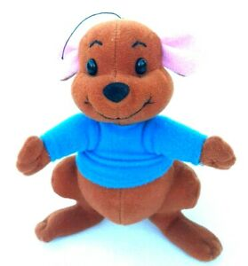 Disney-Winnie-The-Pooh-Baby-Roo-Kangaroo-Blue-Shirt-Soft-Plush-Stuffed-Toy-14CM