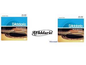 OFFERTA-2-SET-MUTA-CORDE-D-039-ADDARIO-EZ910-Bronze-011-052-CHITARRA-ACUSTICA-FOLK