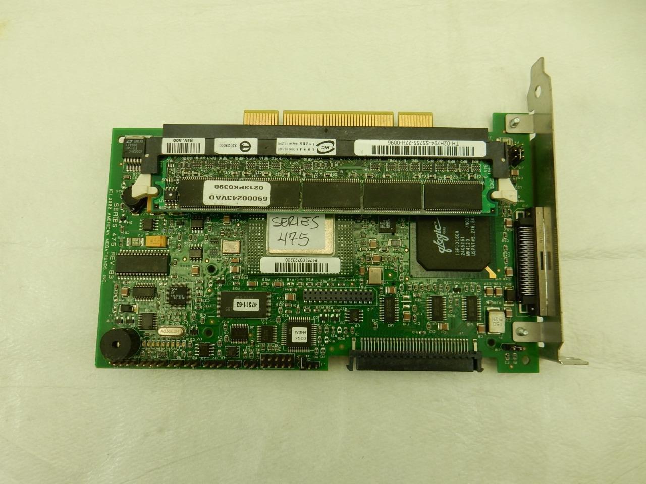 American Megatrends SERIES 475 REV-B3 PCI SCSI Card with 32MB Memory