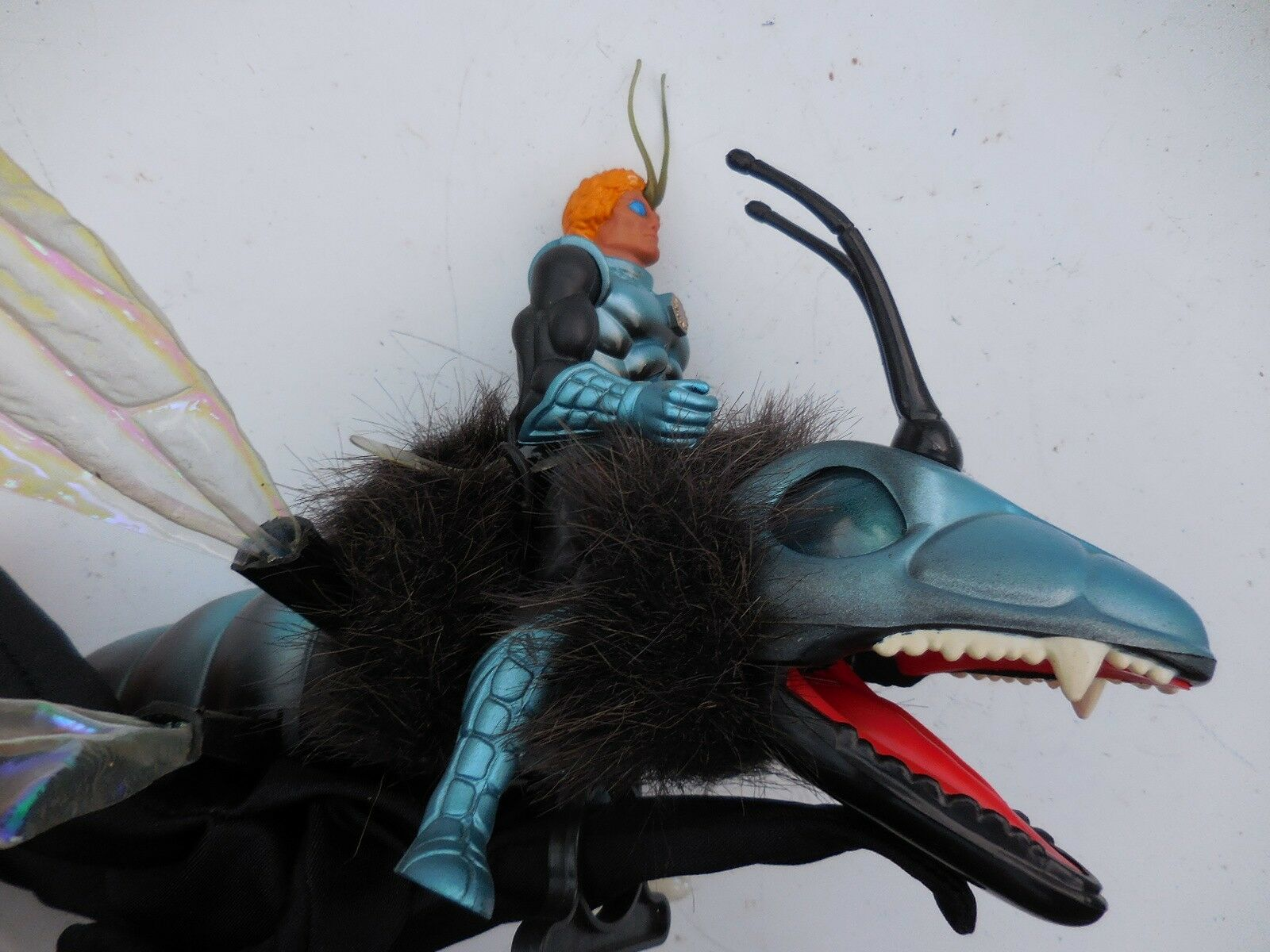 Sectaurs Dargon Dragonflyer Action Figure ( for part or repair) as is