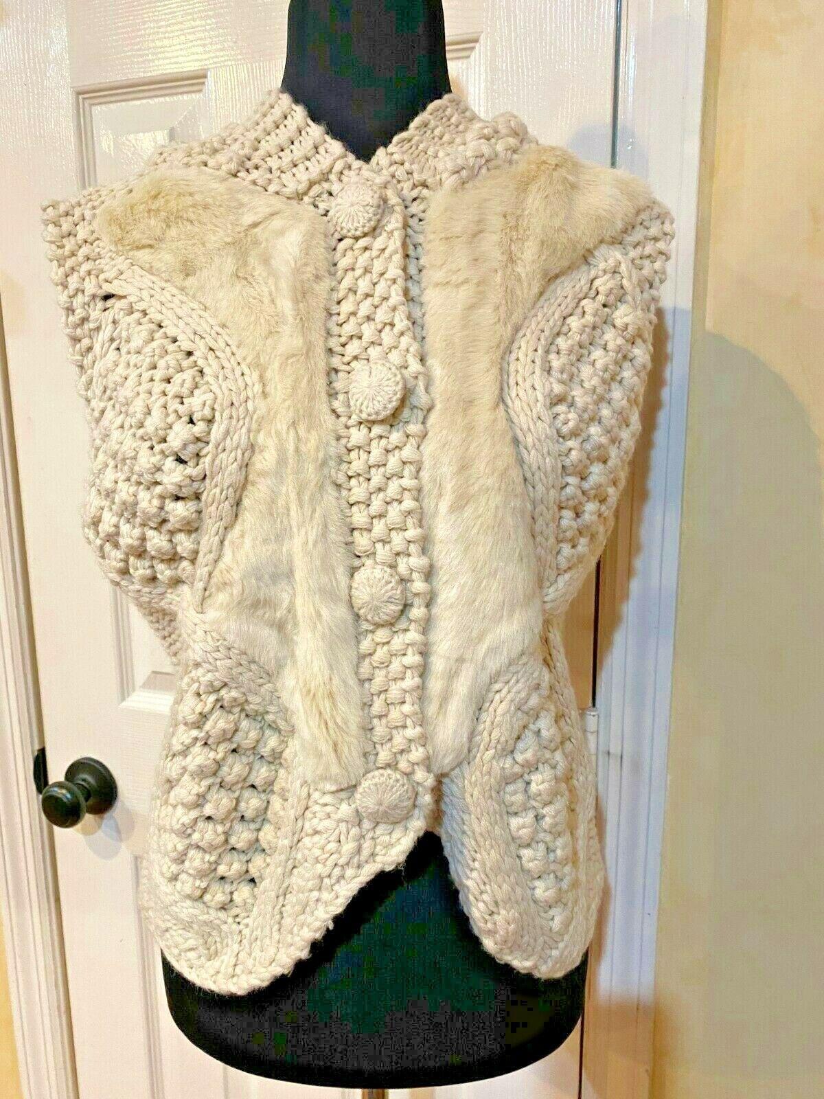 Anthropologie Pelage Crochet Sweater Vest Medium … - image 1