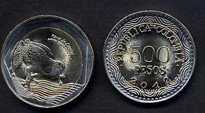 Colombia 500 Pesos 2012 Bimetallic Frog Unc Pfb7dh31-08005651-224599255