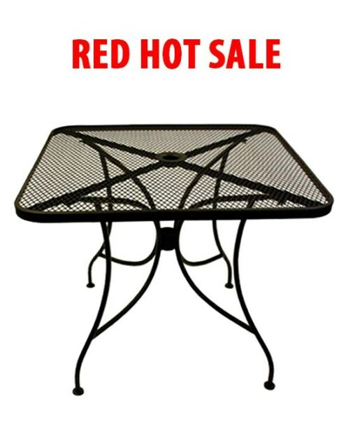 NEW BEAUTIFUL 30x30 BLACK MESH METAL OUTDOOR PATIO RESTAURANT TABLE  FURNITURE