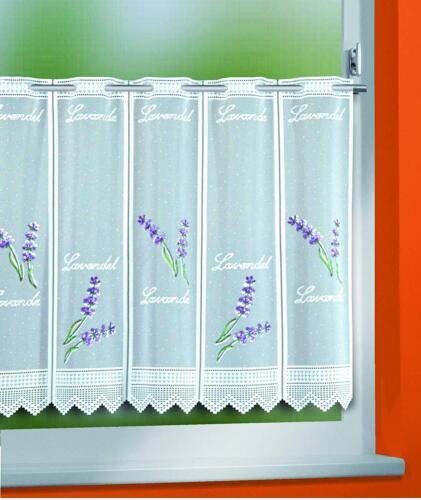 Bistrogardine Küchengardine Lavendel 45x150 cm individuell in der Breite kürzbar