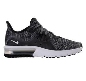 d24f1c2ef5 Girls Boys Juniors NIKE AIR MAX SEQUENT 3 GS Black Trainers 922884 ...