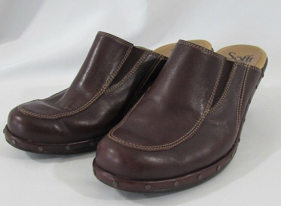 Sofft Womens Brown Mule Clogs Size 7.5M