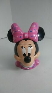 Disney-on-Ice-Minnie-Mouse-Pink-Bow-Mug-Flip-Top-Lid-Plastic-Cup