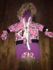 f00ed271a Canada Weather Gear Pink 1 Piece ZIPPER Snowsuit Pram Baby Girls 3-6 ...