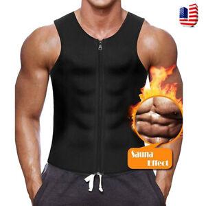 Men-039-s-Neoprene-Vest-Sweat-Shirt-Sauna-Suit-Slim-Weight-Loss-Workout-Body-Shaper