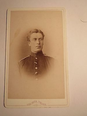 Dynamisch Trier - Soldat In Uniform - Portrait / Cdv