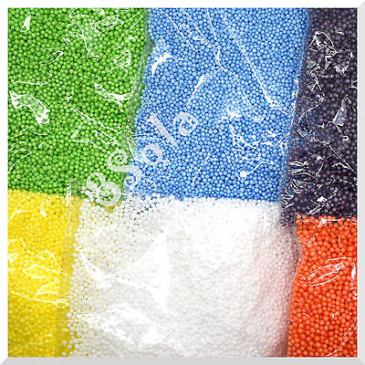 0.5l Palline Di Polistirolo Sfere Di Polistirene Espanso Colorato 2-3 Mm Filler Perline Decor-