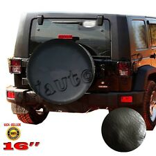 "New 16"" Black Car Spare Tire Tyre Wheel Cover For Jeep Liberty Wrangler"