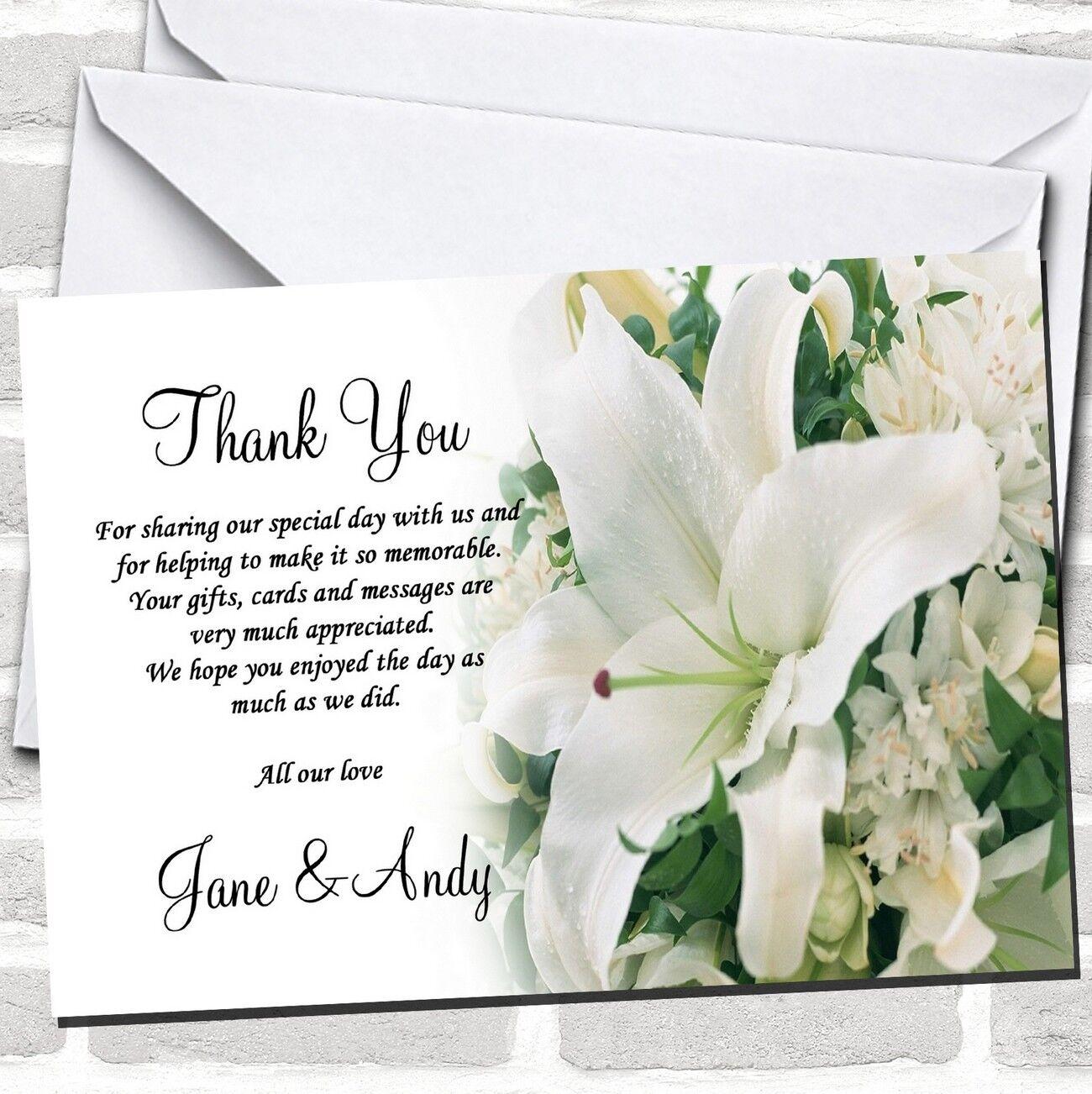 Classy Weiß Lily Pretty Wedding Thank You Cards