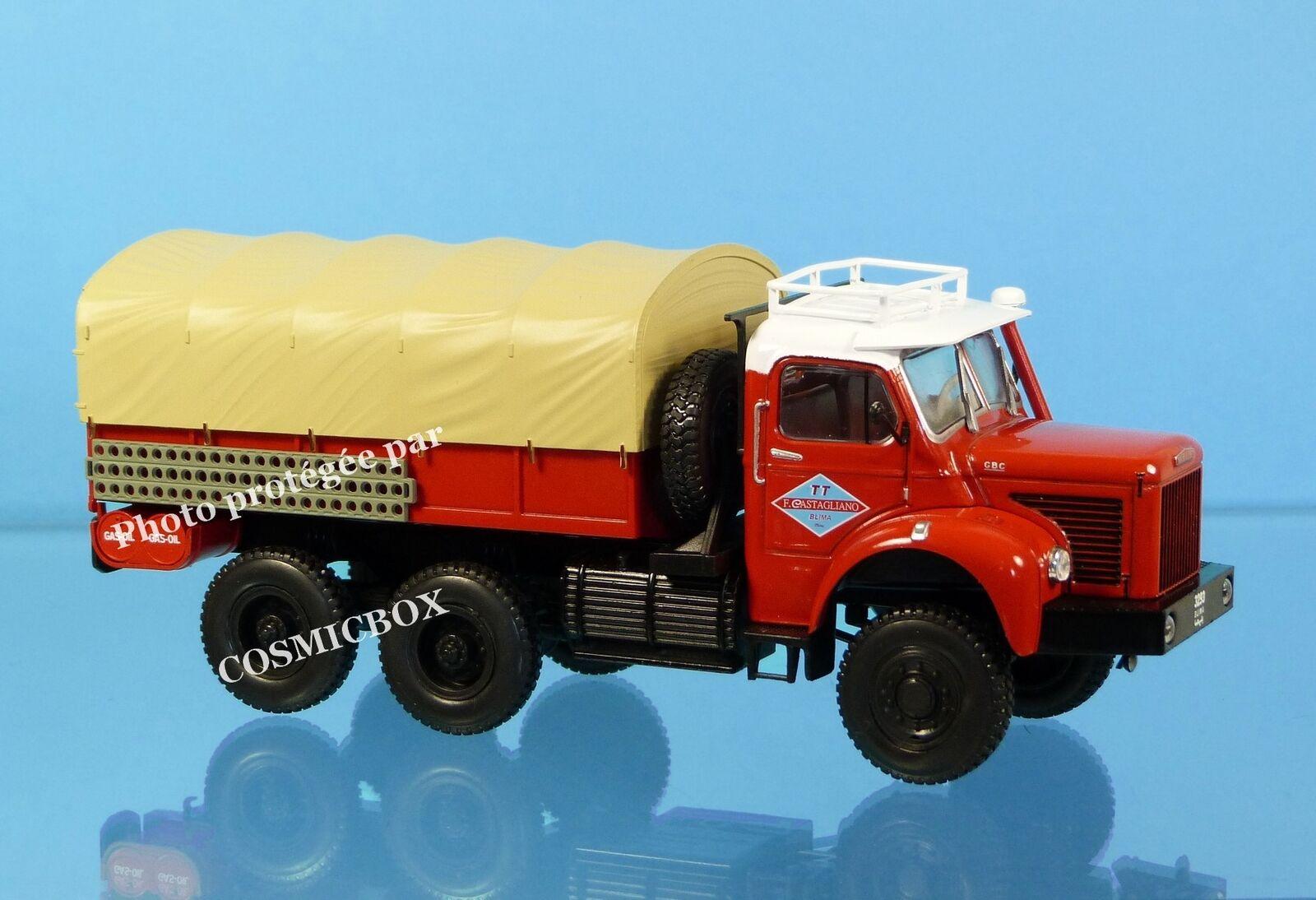 Camion BERLIET GBC 8 M 6x6 Gazelle vehículo del desierto metal 1956 todo terreno
