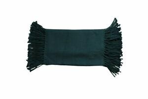 Canali Men's Teal Side Fringe Wool Scarf