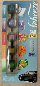 FEBREZE-Car-Freshener-5-Pack-w-Bonus-Storage-Case-Gain-Scents-SHIPS-FREE