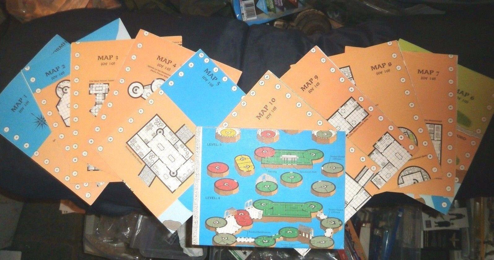 Advanced Dungeons & Dragons Waterdeep City of Splendors MAP SET 1-10 COMPLETE