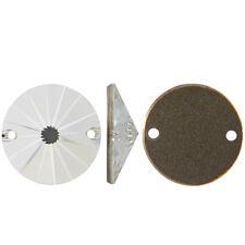Swarovski 10mm Sew On Flat Back Rivoli - Crystal Color - Set of 4
