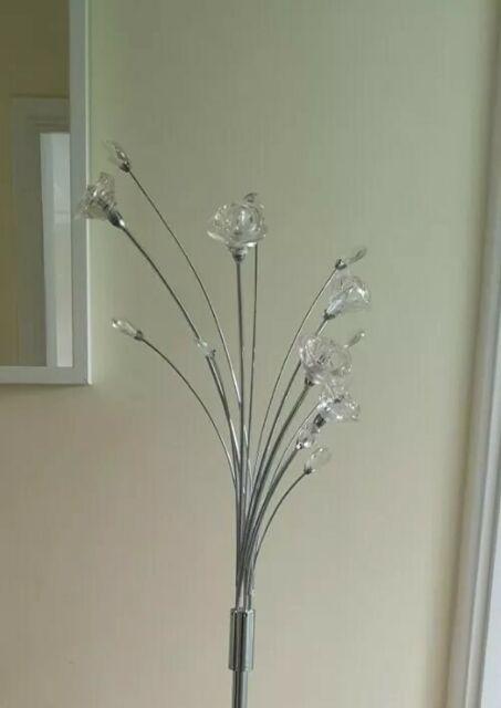 Chrome Argos Home Rosa 5 Light Flower Floor Lamp