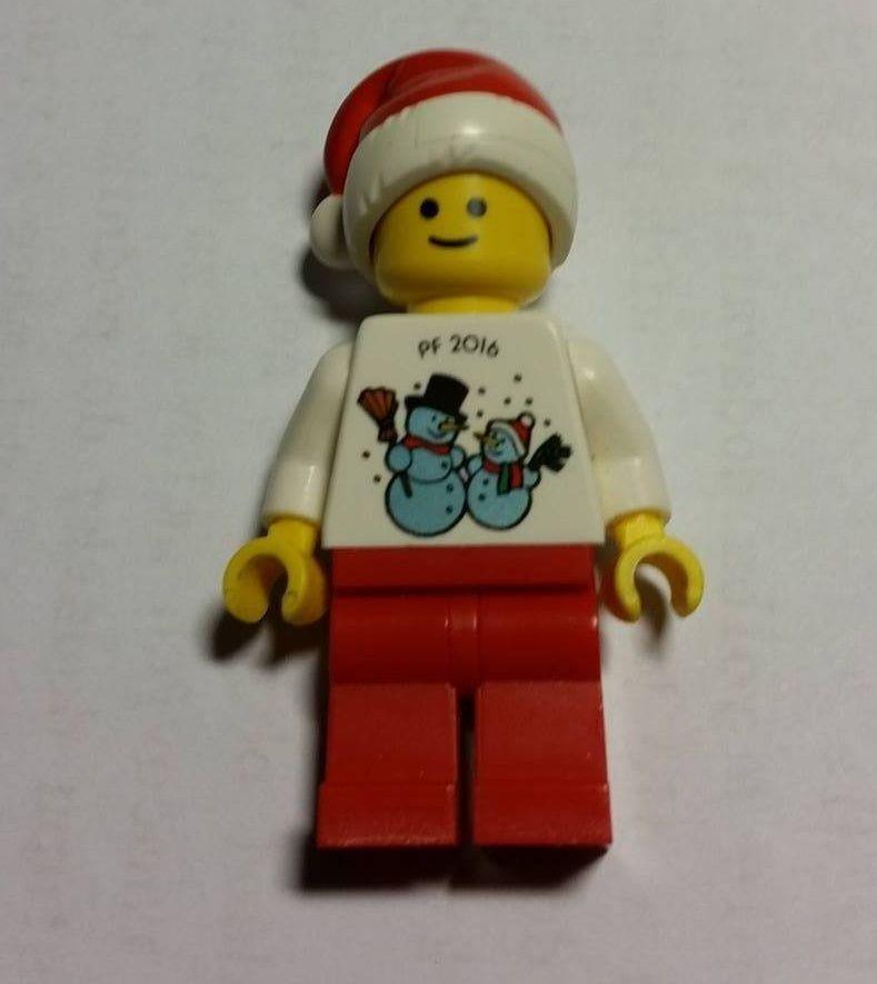 Lego Kladno Christmas 2015 PF 2016 Minifigure Extremely rare employee gift