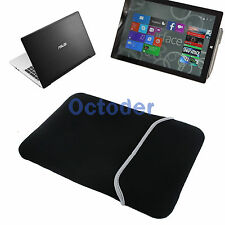 Black Soft Sleeve Case Bag Pouch Cover for Surface Pro 3 ASUS VivoBook Tablet